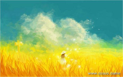 梦见金色的稻田_稻田模板下载图片编号542295